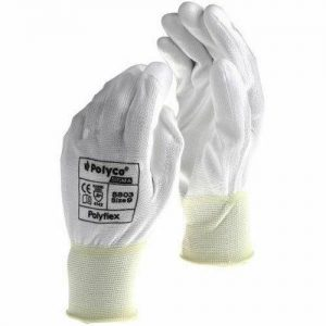 Polyco Polyflex White Gloves Large - Pack of 12 Pairs