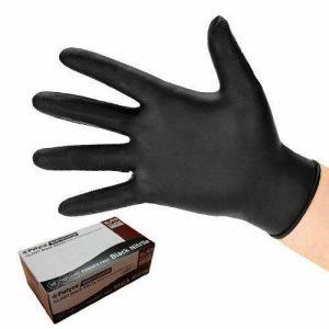 Bodyguard Black Nitrile Gloves Large (8973) - Box of 100 FREE DELIVERY