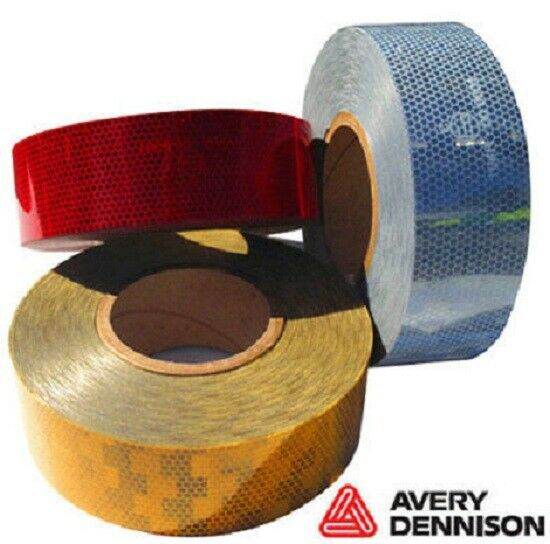 Avery Dennison Amber Conspicuity Tape 12.5M Roll EC104 approved FREE DELIVERY