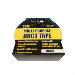 Multi Purpose Duct Tape - Black 10M WORKSHOPPLUS FREE DELIVERY