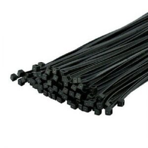 Black Cable Ties 4.8 x 200mm - 100 Pieces WORKSHOPPLUS FREE DELIVERY