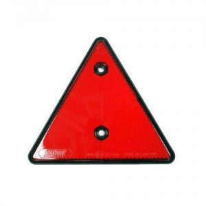 Red Triangle Reflector 150mm with Black Border by WORKSHOPPLUS FREE DELIVERY
