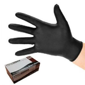 Bodyguard Black Nitrile Gloves Extra Large (8975) - Box of 100 FREE DELIVERY