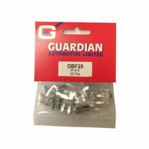 Mini Blade Fuses 25 Amp - 25 Pieces COMPLETE WITH FREE DELIVERY