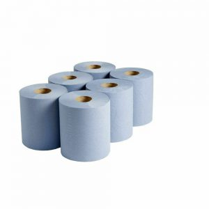 """Blue Hygiene Couch Paper Rolls 2 ply 10"""" 50m x 25cm - Pack of 18"""