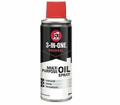 WD40 3 In One 200ml Oil Spray Aerosol - Pack of 4 FREE DELIVERY