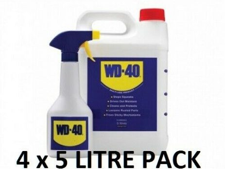 WD40 5 Litre 4 PACK Inc Free Spray Applicator COMPLETE WITH FREE DELIVERY
