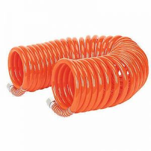 """Sealey PU 8mm Coiled Air Hose 10M with 1/4"""" BSP Unions FREE DELIVERY"""