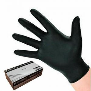 Black Nitrile Gloves Large - 100 PACK BY WORKSHOPPLUS FREE DELIVERY