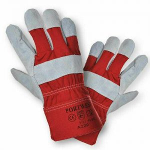 Polyco Premium Chrome Leather Rigger Gloves size L (Red) FREE DELIVERY