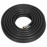 """Sealey Rubber Air Hose with HD 1/4"""" unions 15M x 8mm"""