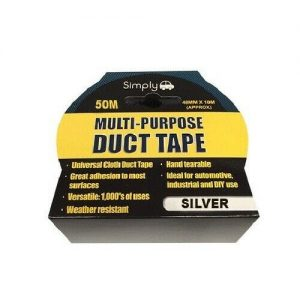 Multi Purpose Duct Tape - Silver 50M FREE DELIVERY