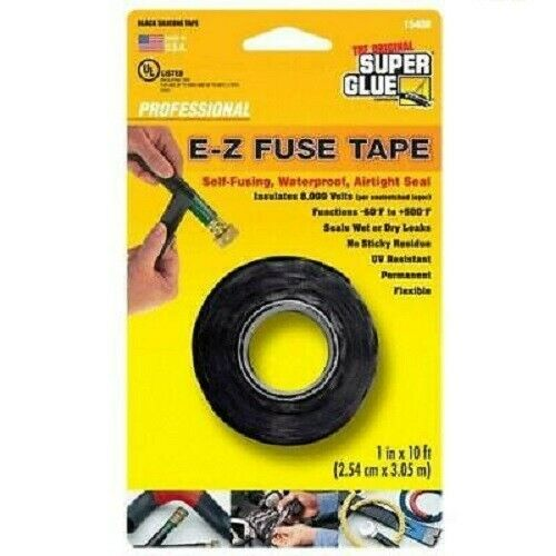 E-Z Fuse Tape 2.54cm x 3.05M waterproof & insulating FREE DELIVERY