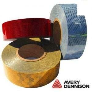 Avery Dennison Red Conspicuity Tape 50M Roll EC104 approved FREE DELIVERY