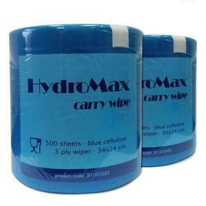 HydroMax 3 ply Blue Roll 500 sheets - Pack of 2 FREE DELIVERY