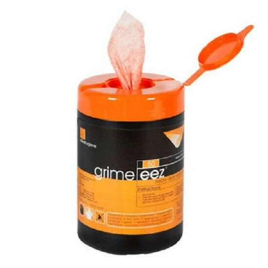 Grimeez HD abrasive Wet Wipes tub of 50 WORKSHOPPLUS FREE DELIVERY